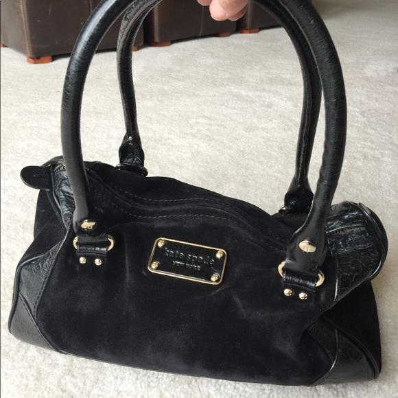 6e85974947 kate spade Handbags - FINAL SALE! Black suede Kate spade purse